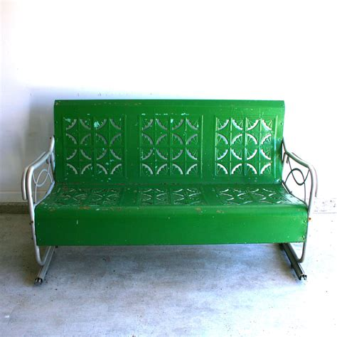 the green bench spring green vintage glider metal bench industrial home