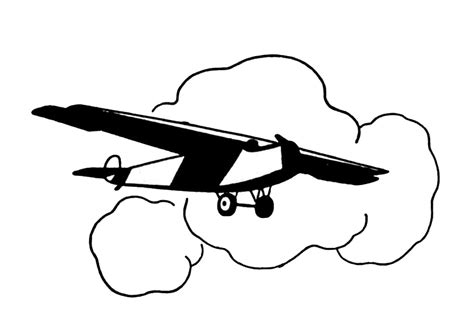 airplane clipart vintage clip black and white airplanes the