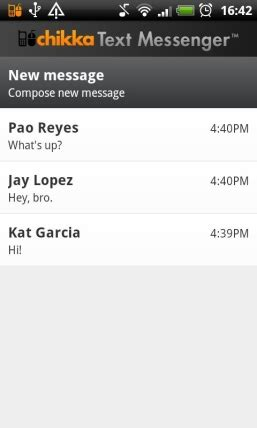 chikka text messenger apk chikka text messenger for android free and software reviews cnet