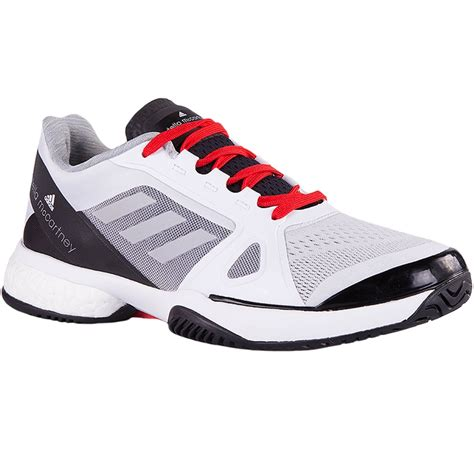 adidas barricade boost  womens tennis shoe whitered