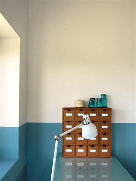 murs bicolores peindre une moiti 233 pour gagner en 233 quilibre decouvrirdesign