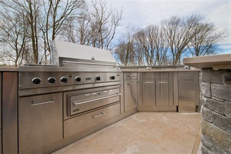 exterior kitchen cabinets stainless steel outdoor kitchen cabinets steelkitchen