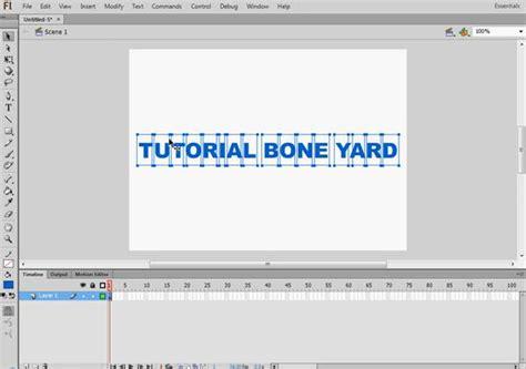 flash tutorial for text animation text animation in flash tutorial bone yard