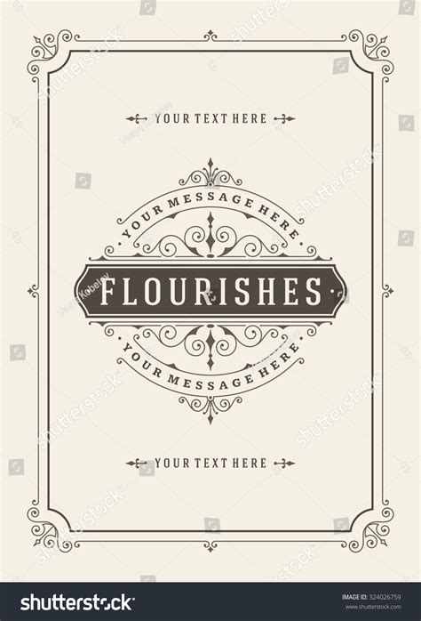 greeting card wedding template vintage ornament greeting card vector template stock