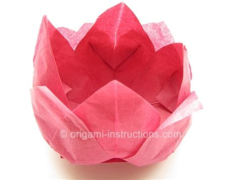 Origami Napkin Flower - 10 best images of lotus flower napkin fold napkin flower