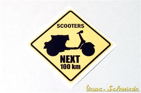 Roller Dekor Aufkleber by Dekor Aufkleber Quot Scooters Next 100km Quot Vespa Lambretta