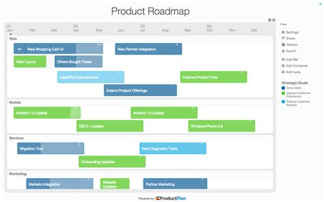 Roadmap Template Software   ProductPlan Features