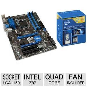 Motherboard Msi Z87 G41 Pc Mate intel i5 4570 processor and msi z87 g41 pc mate intel