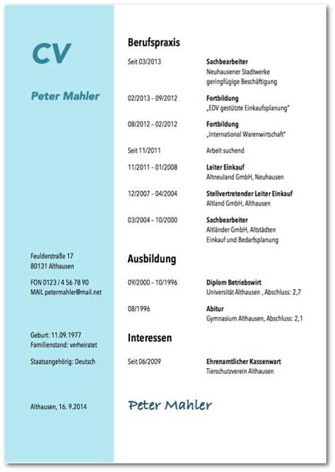 Perfekter Lebenslauf Vorlage by Perfekter Tabellarischer Lebenslauf Detaillierte Anleitung