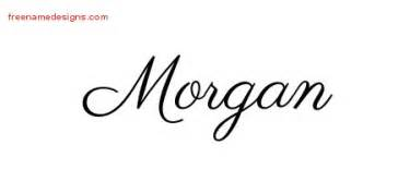 classic name tattoo designs morgan graphic download free