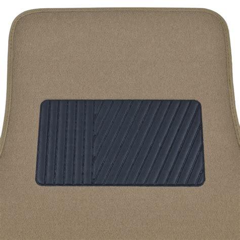 Car Floor Mat Heel Pad by Solid Medium Beige Premium Car Auto Thick Carpet Floor Mat