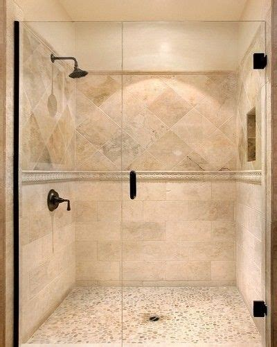 travertine tile bathroom ideas travertine tile shower on bottom then accent liner then diagonal at eye level