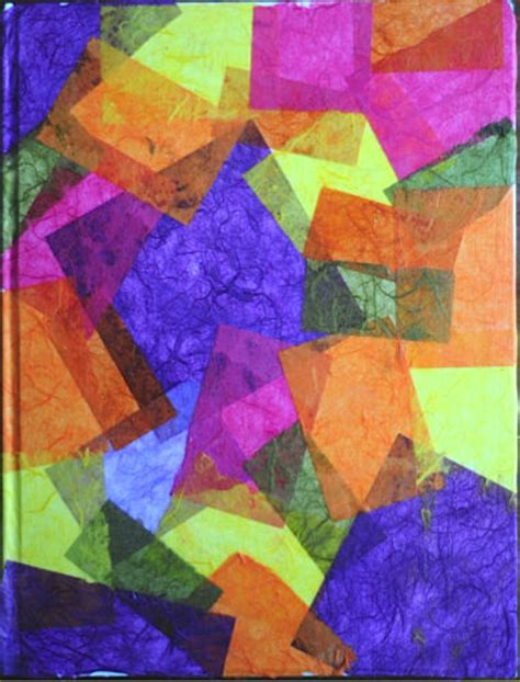 Rice Paper Craft Ideas - rice paper collaged sketchbook project artchoo