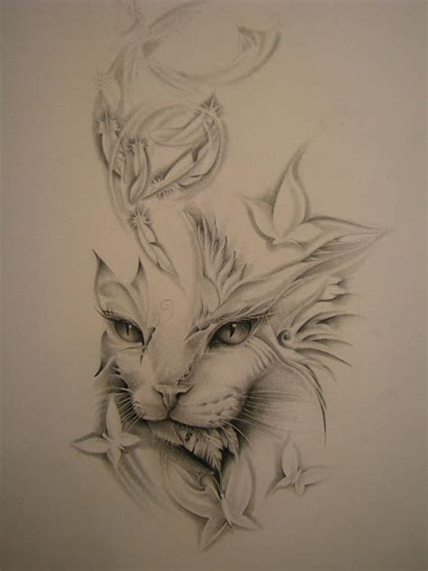 wallpaper cat tattoo griffe tattoo tattoo gatinho