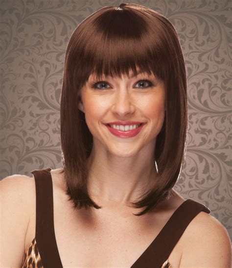 tapered gray bob with bangs chocolate brown tapered bob wig doll