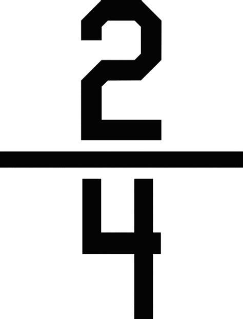 numerical fraction 2 4 clipart etc