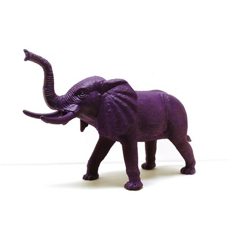 Elephant Figurines | bohemian elephant figurine violet purple home decor by nashpop