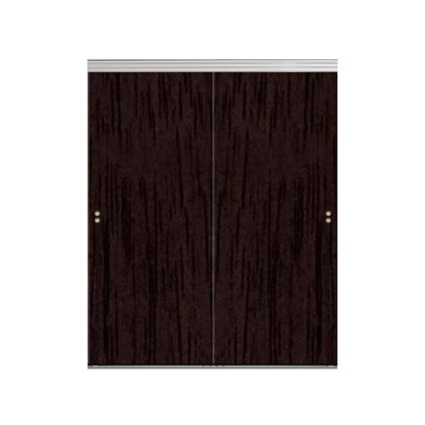 Impact Plus Closet Doors Impact Plus 42 In X 96 In Smooth Flush Espresso Solid Mdf Interior Closet Sliding Door