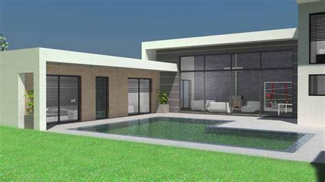 Design Home Extension App by Plan Maison 224 Toit Terrasse Plans De Maisons D Architecte