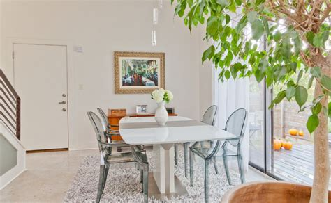 a modern dining table calls for modern chairs home