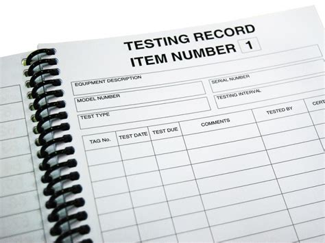 test and tag log book template test and tag log book appliance testing supplies