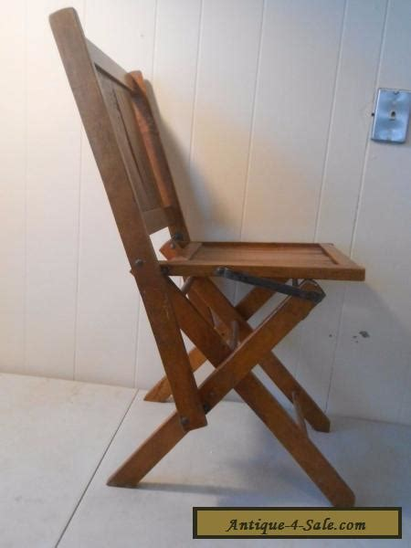 antique simmons  wooden folding chairs vintage wood slat seat  sale  united states