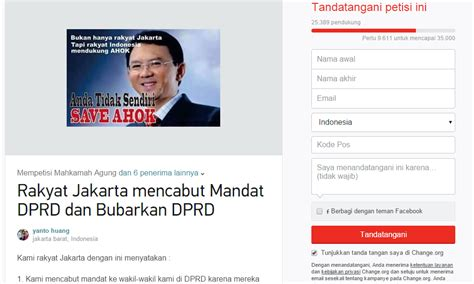 ahok facebook gerakan save ahok ajak pengguna facebook dukung ahok