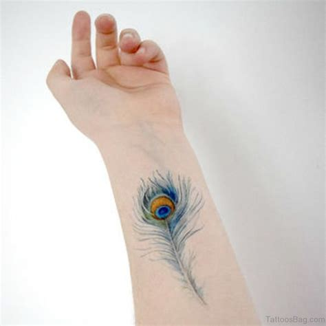 peacock feather tattoo on wrist 31 awesome peacock feather tattoos on wrist