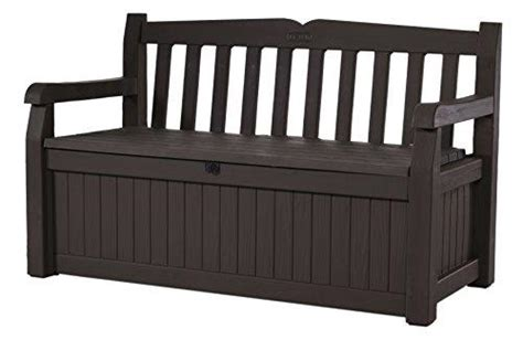 keter 70 gallon bench deck box keter eden 70 gal all weather outdoor patio storage bench