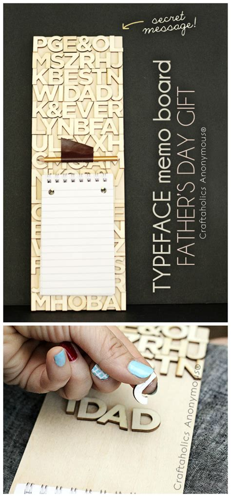 Handmade Fathers Day Gift - craftaholics anonymous 174 typeface memo board handmade