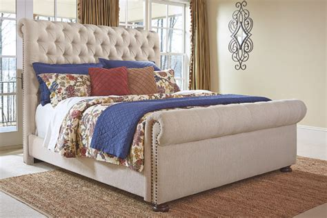 ashley furniture upholstered bed windville queen upholstered sleigh bed ashley furniture