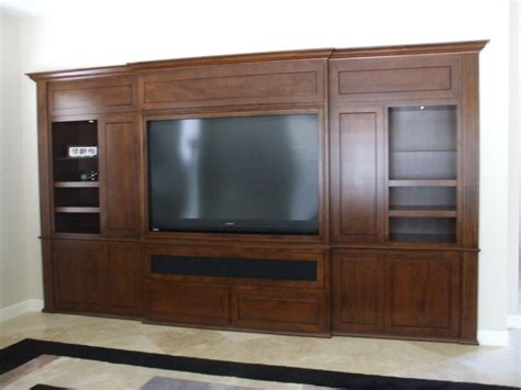 Handmade Entertainment Units - built in entertainment wall units studio design