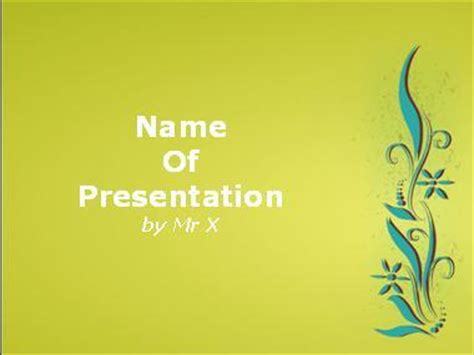 powerpoint two themes one presentation green floral background powerpoint template