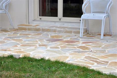 terrasse quartzite jaune r 233 alisation terrasse hermitage 35 lepierre