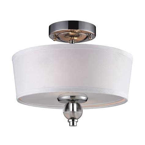 Chrome Flush Mount Ceiling Light by Titan Lighting Martina 2 Light Polished Chrome Ceiling