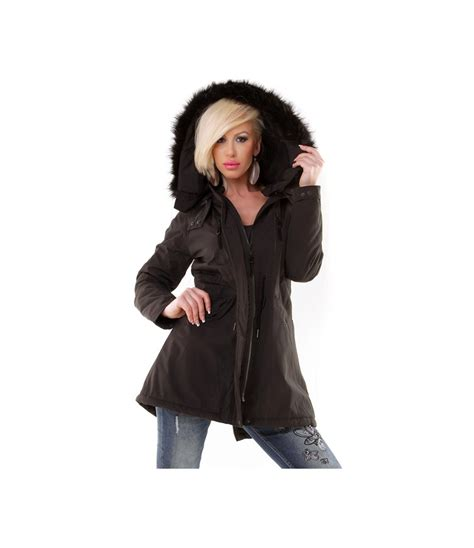 Fashion Jacket Parka jacke fashion style wear parka schwarz jacken