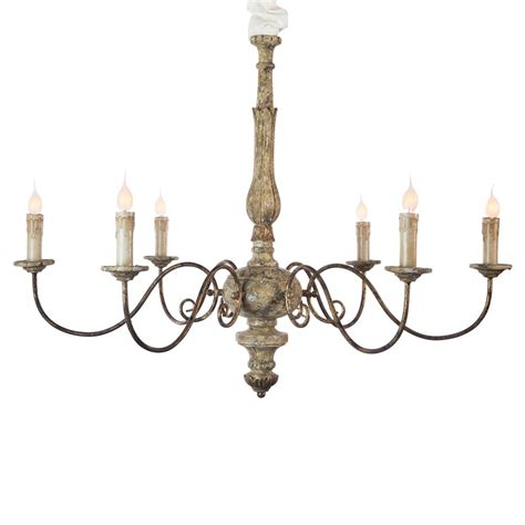 Country Chandeliers Avignon Country Rustic Gold Iron Scroll Chandelier Kathy Kuo Home