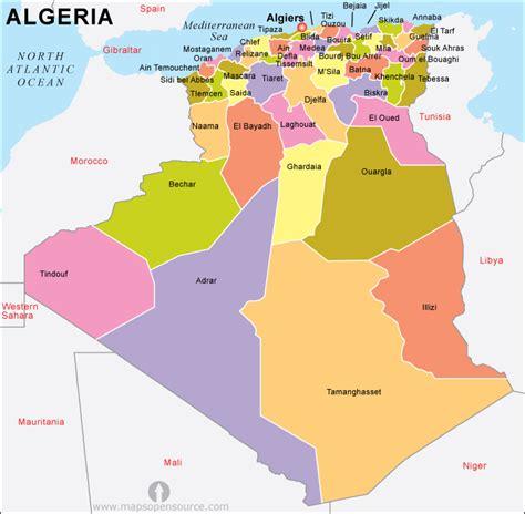 map of algeria cities free algeria map map of algeria free map of algeria