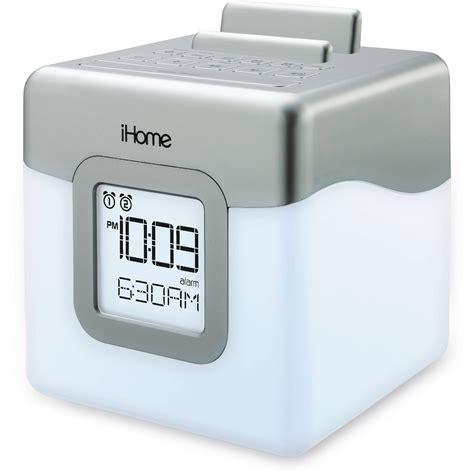 best color for alarm clock ihome led dual alarm fm radio speaker system ihm28wc b h photo