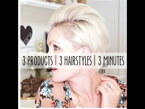 how to style a pixie cut different ways black hair how to style a pixie haircut 3 different ways in 3 minutes