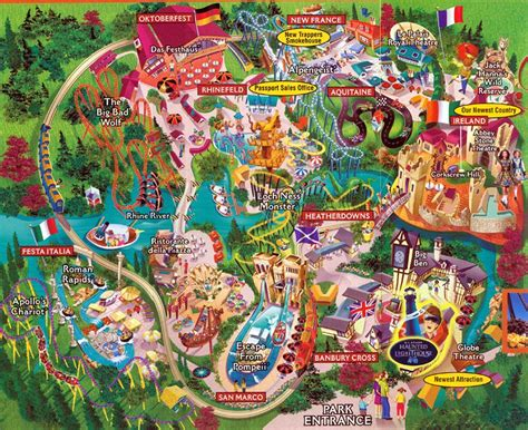 Busch Gardens Virgina by Theme Park Brochures Busch Gardens Williamsburg Theme