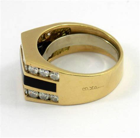 bernard passman black coral gold ring for sale at
