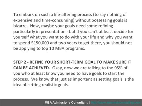 Goal In Mba by Owning Your Mba Career Goals In 5 Easy Steps