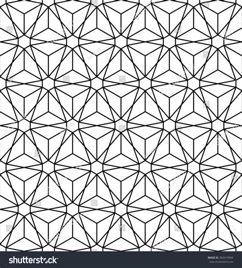 pattern flower of life abstract sacred geometry black white hipster stock vector