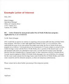 Letter Of Interest Template by 7 Letters Of Interest Free Sle Exle Format