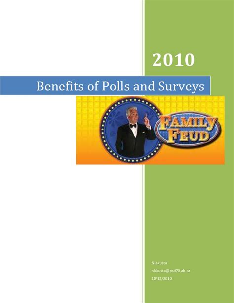 Online Polls And Surveys - benefits of polls and surveys