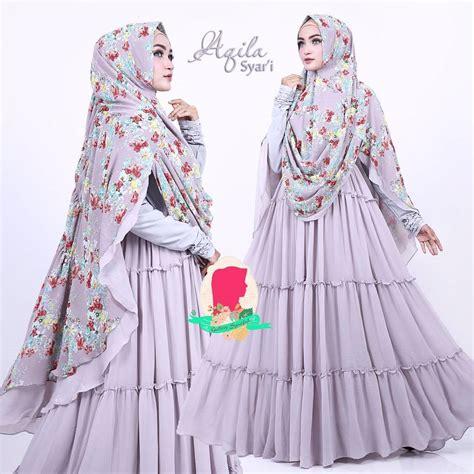 Baju Gamis Wanita Dan Khimar Zaida Set Syari aqila syar i by gallery syarifah baju gamis syari bahan ceruti