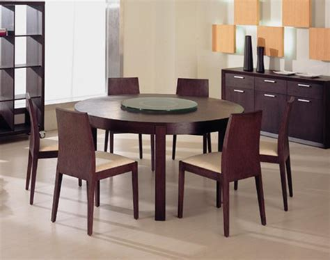 Modern Dining Room Table Chairs Ferrara Modern Round Wood Dining Table Furniture Amp Home
