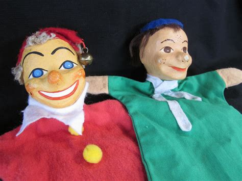 How To Make A Paper Mache Puppet - vintage original puppet with painted paper mache by