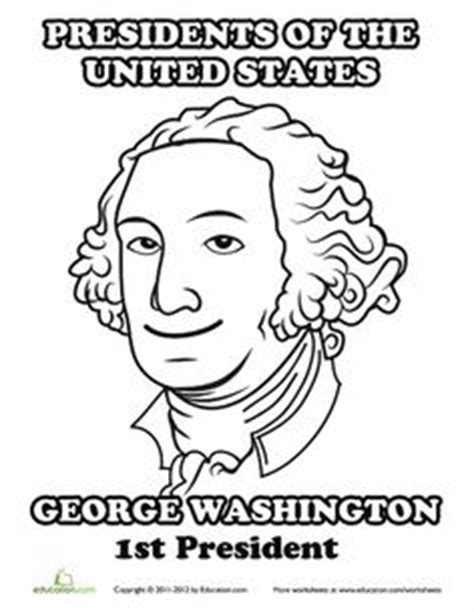 george washington coloring page for kindergarten 1000 images about book float parade on pinterest us